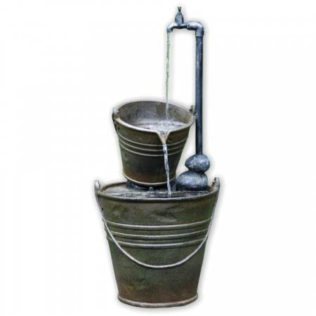 2 Tin Buckets with Tap