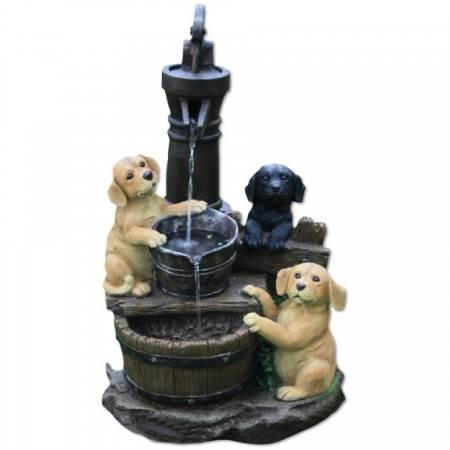 3 Puppies at Pump