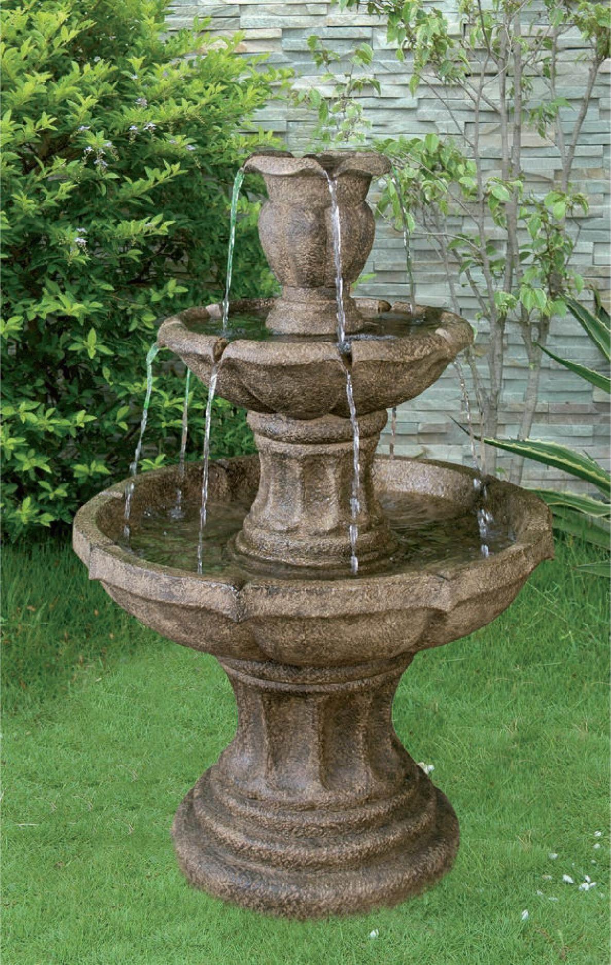 3 Tier Classic Stone Fountain Garden Water Features Depot
