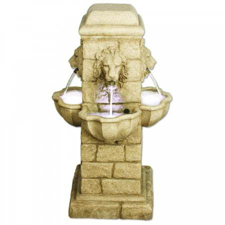 4-Face-Lion-Fountain