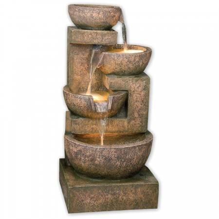 4 Granite Copper Bowls