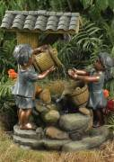 Children at Tiled Roof Well