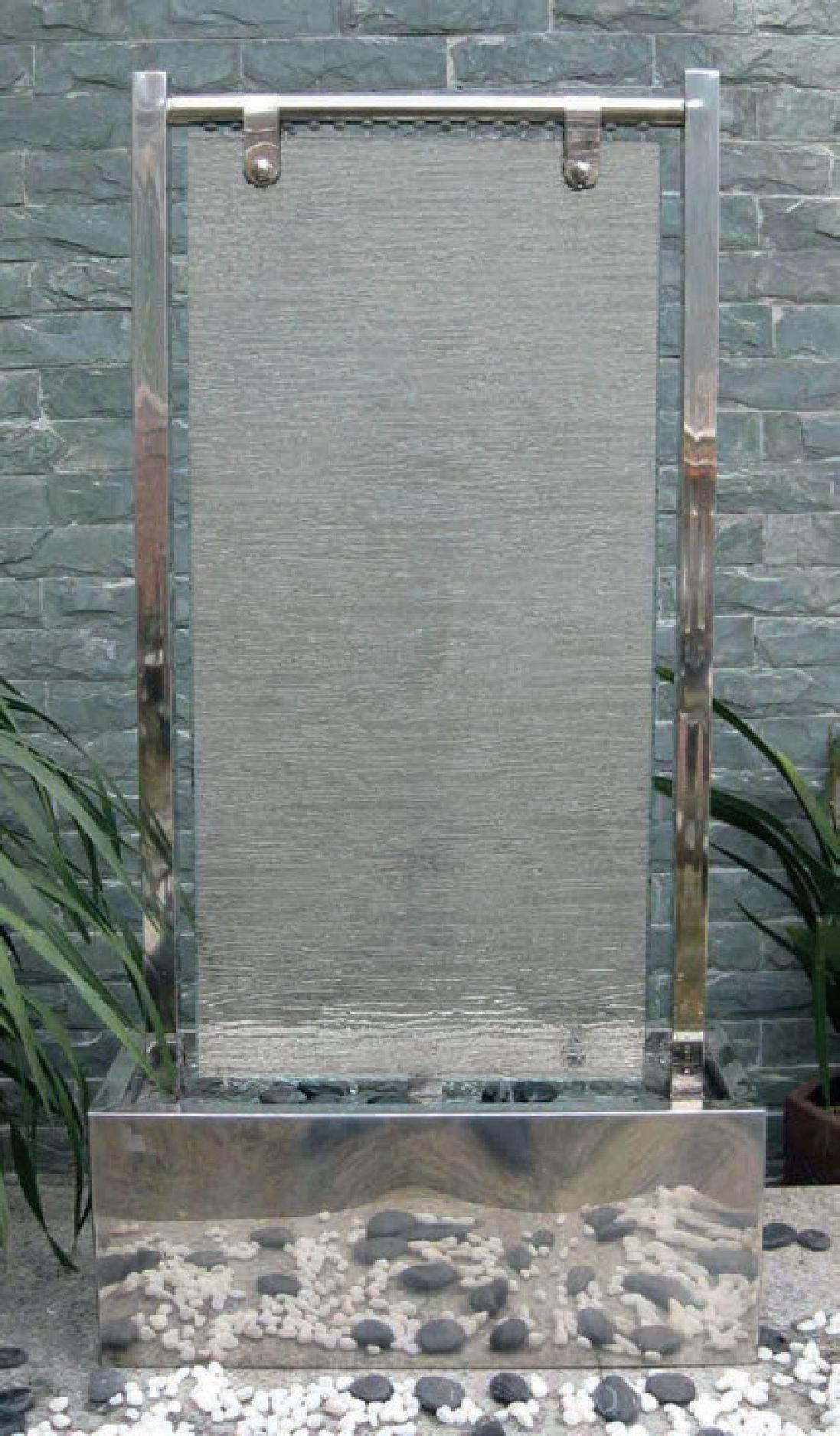 Dakar Stainless Steel Glass Sheet Garden Water