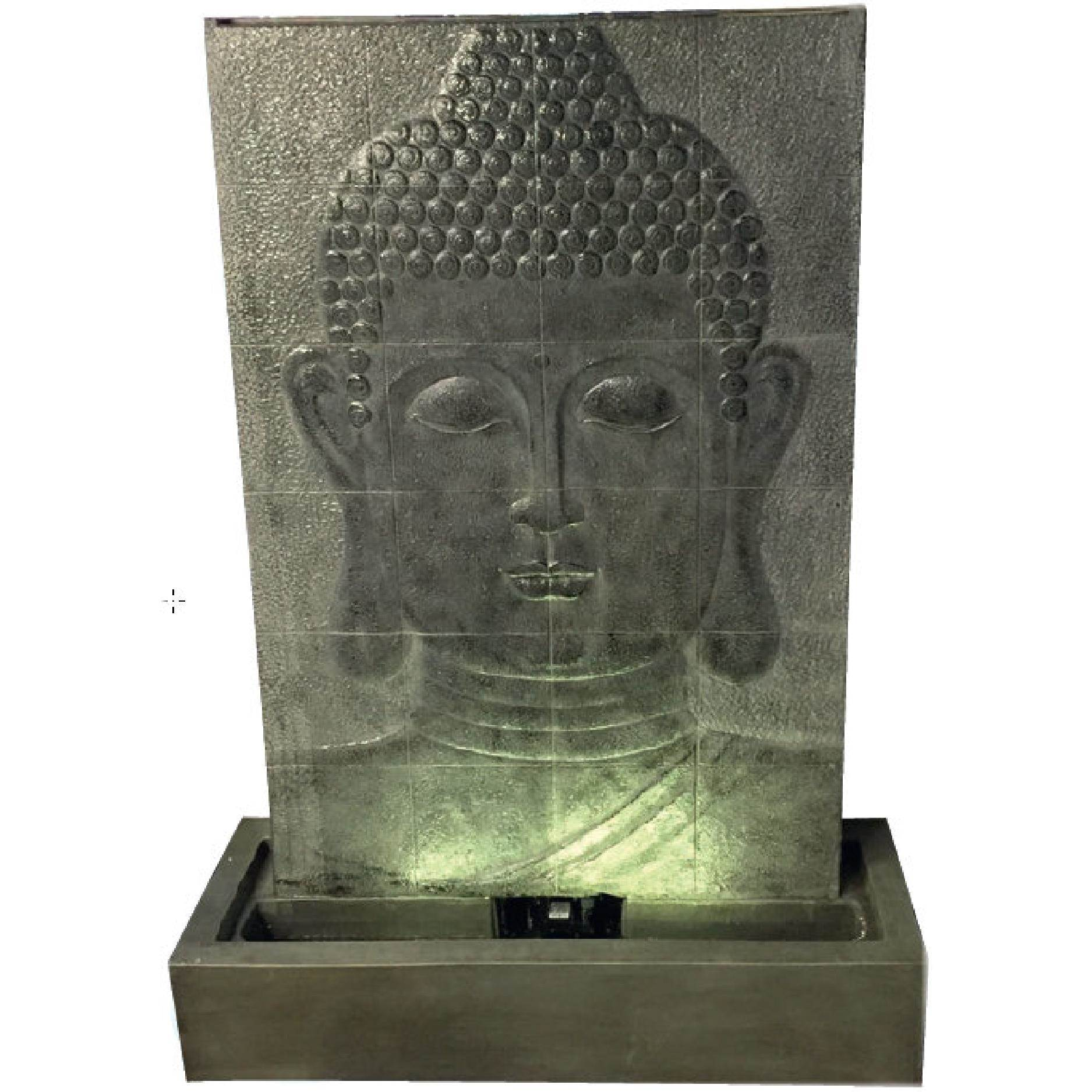 Large Grey Buddha Wall Garden Water Features Depot