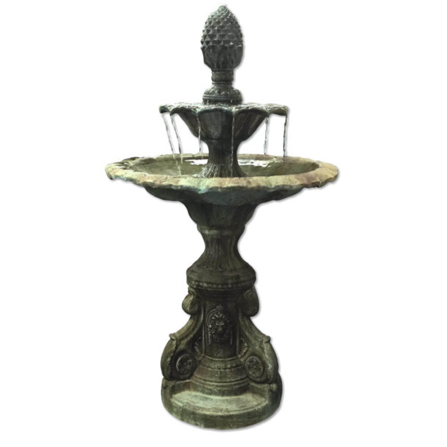 Vintage Verdigris Cast Bronze Figural Baroque Style Two
