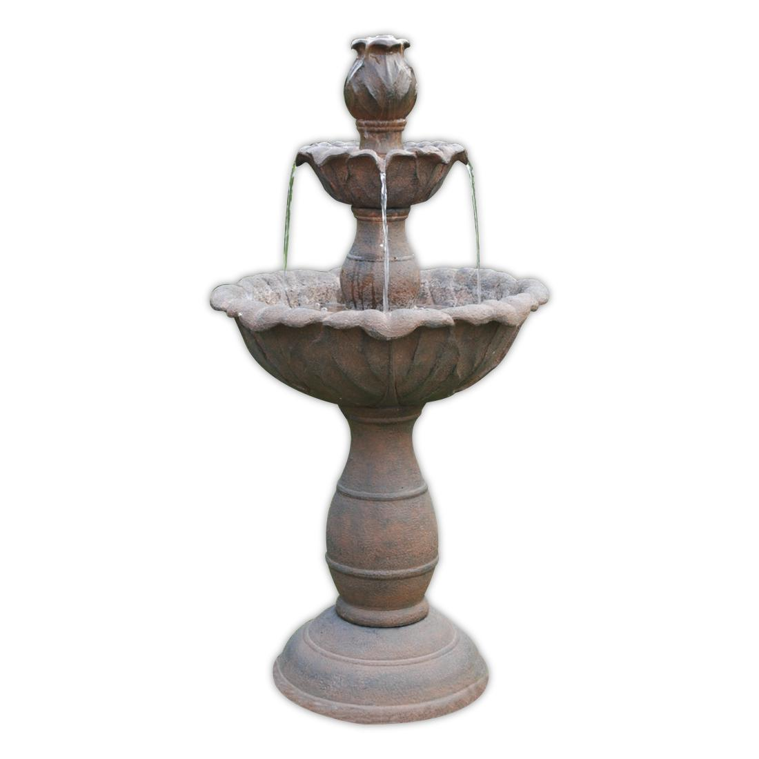 3 Tier Rust Fountain Garden Water Features Depot