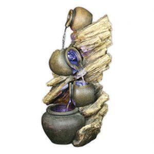 4 Pots on Driftwood