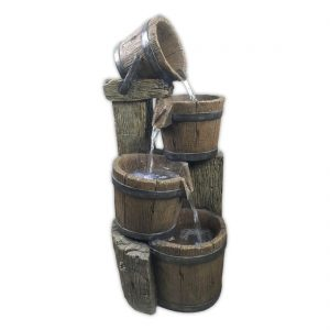 4 Pouring Wooden Barrels