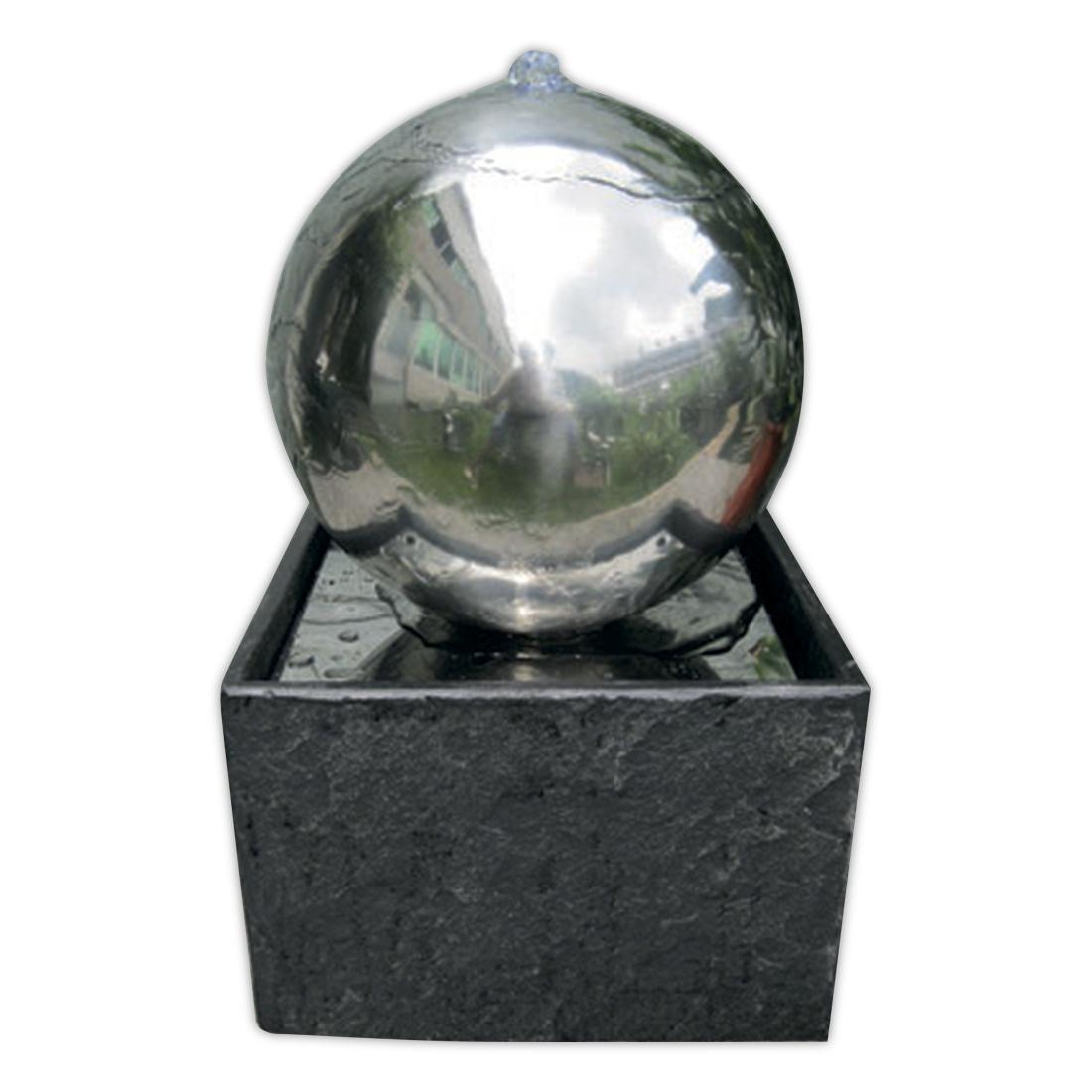 Adelaide stainless steel granite base garden water for Garden water features adelaide