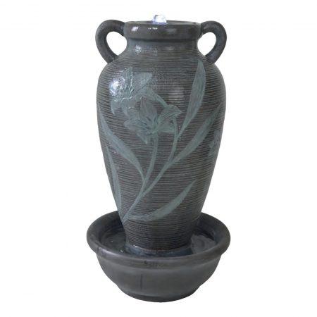 Floral Ribbed Vase