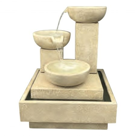 Trio Cascade Fountain (Sandstone)