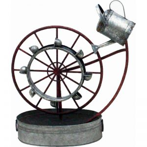 Metal Water Wheel Fountain